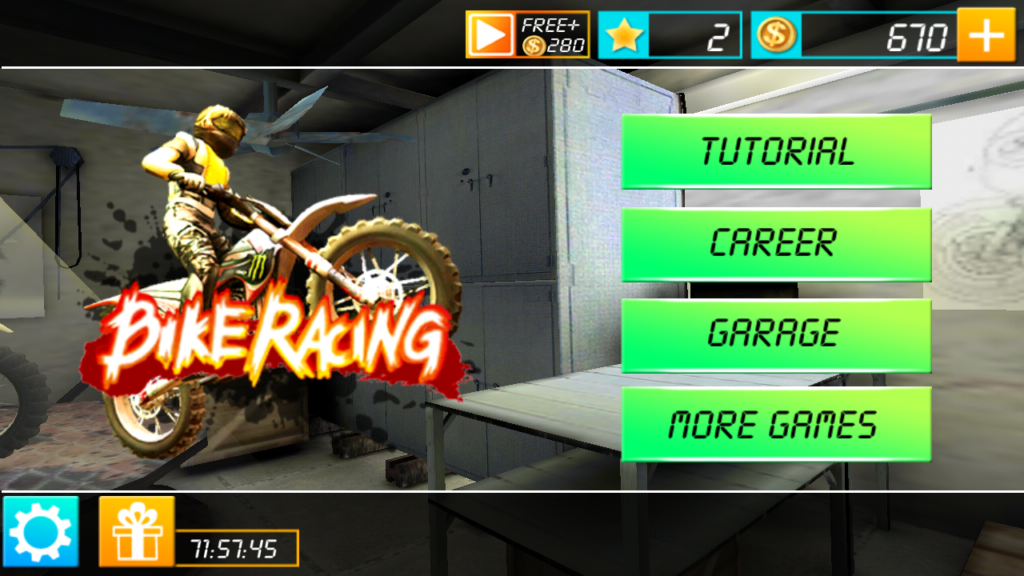 You can play Bike Racing 3D too