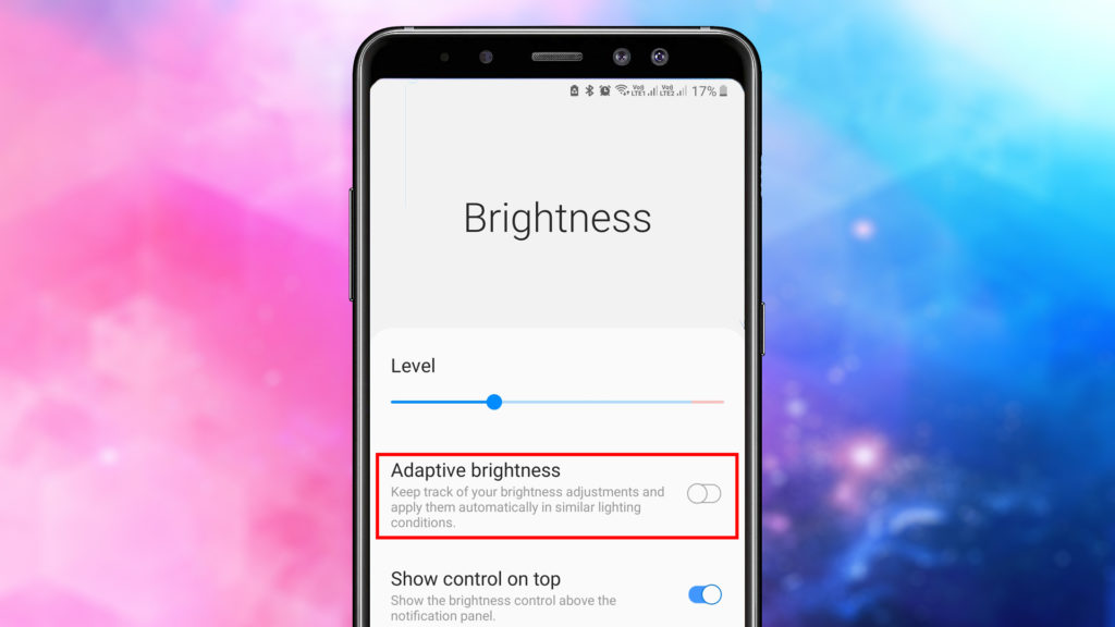 Reduce brightness level as low as possible to Increase Battery Life on Android Phones
