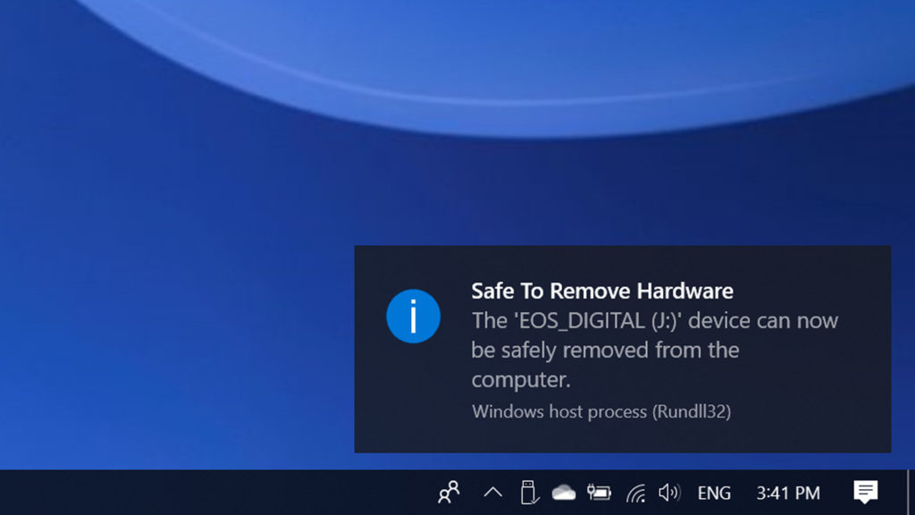Safely Remove Hardware Is Essential