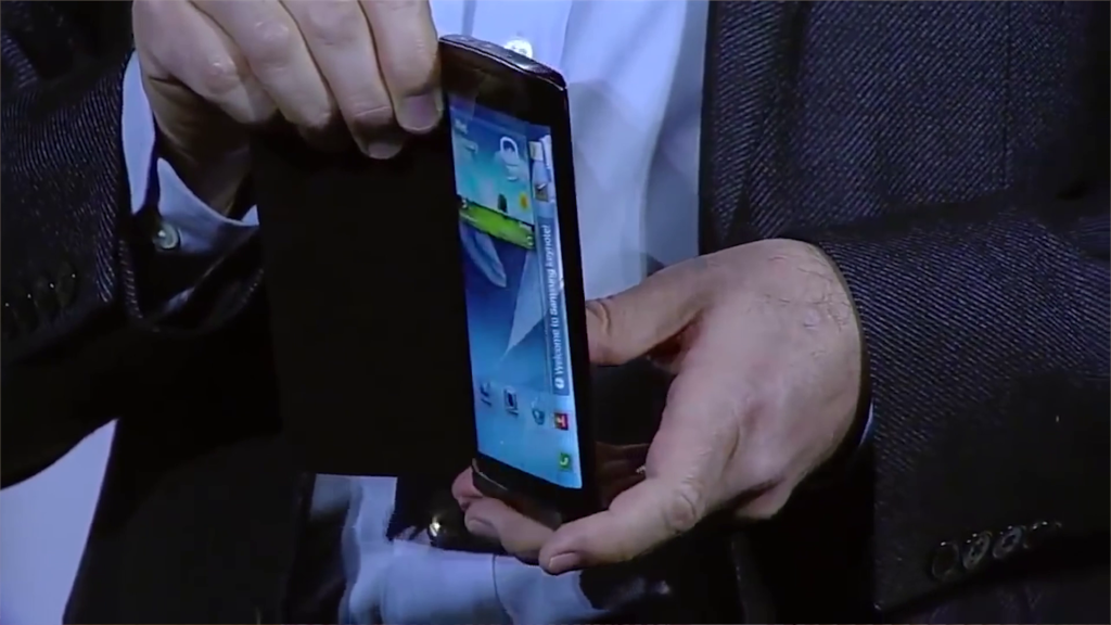 Samsung Galaxy Youm is the first edge display smartphone prototype.