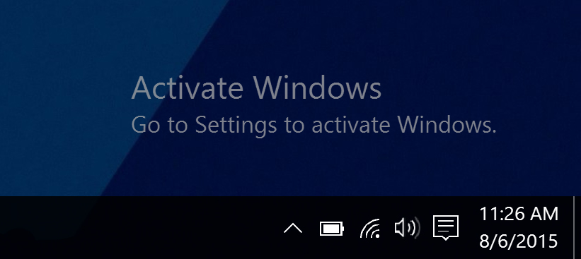 If you never activate windows 10 then this message will be shown