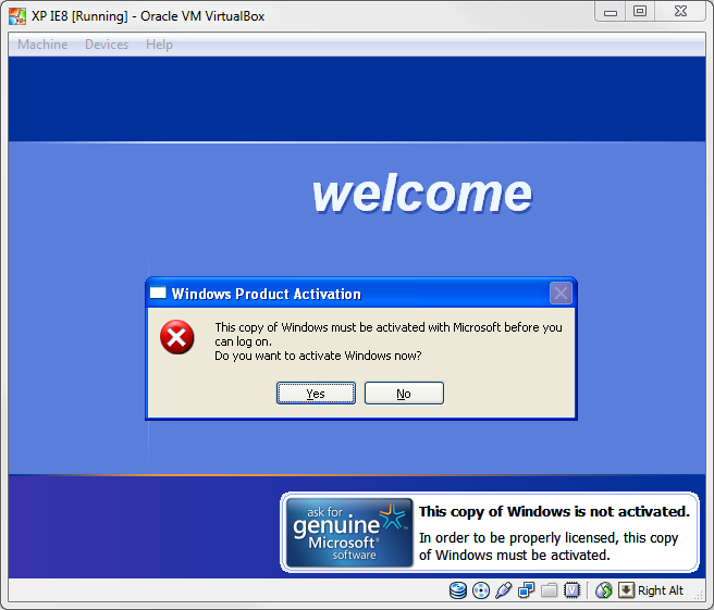 After Trial Period You Can't enter into the Windows XP.