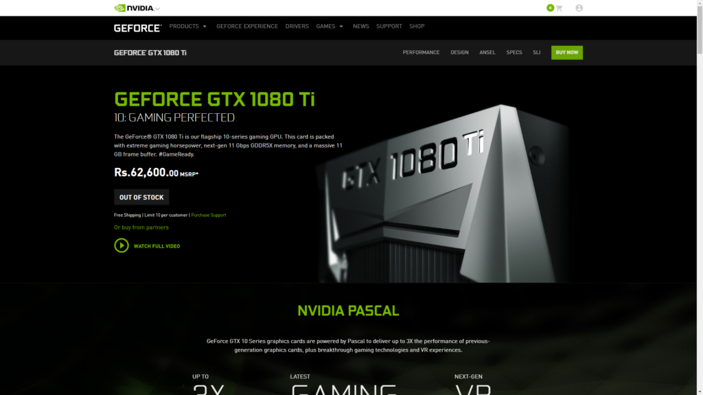 NVIDIA's first founder edition graphics card