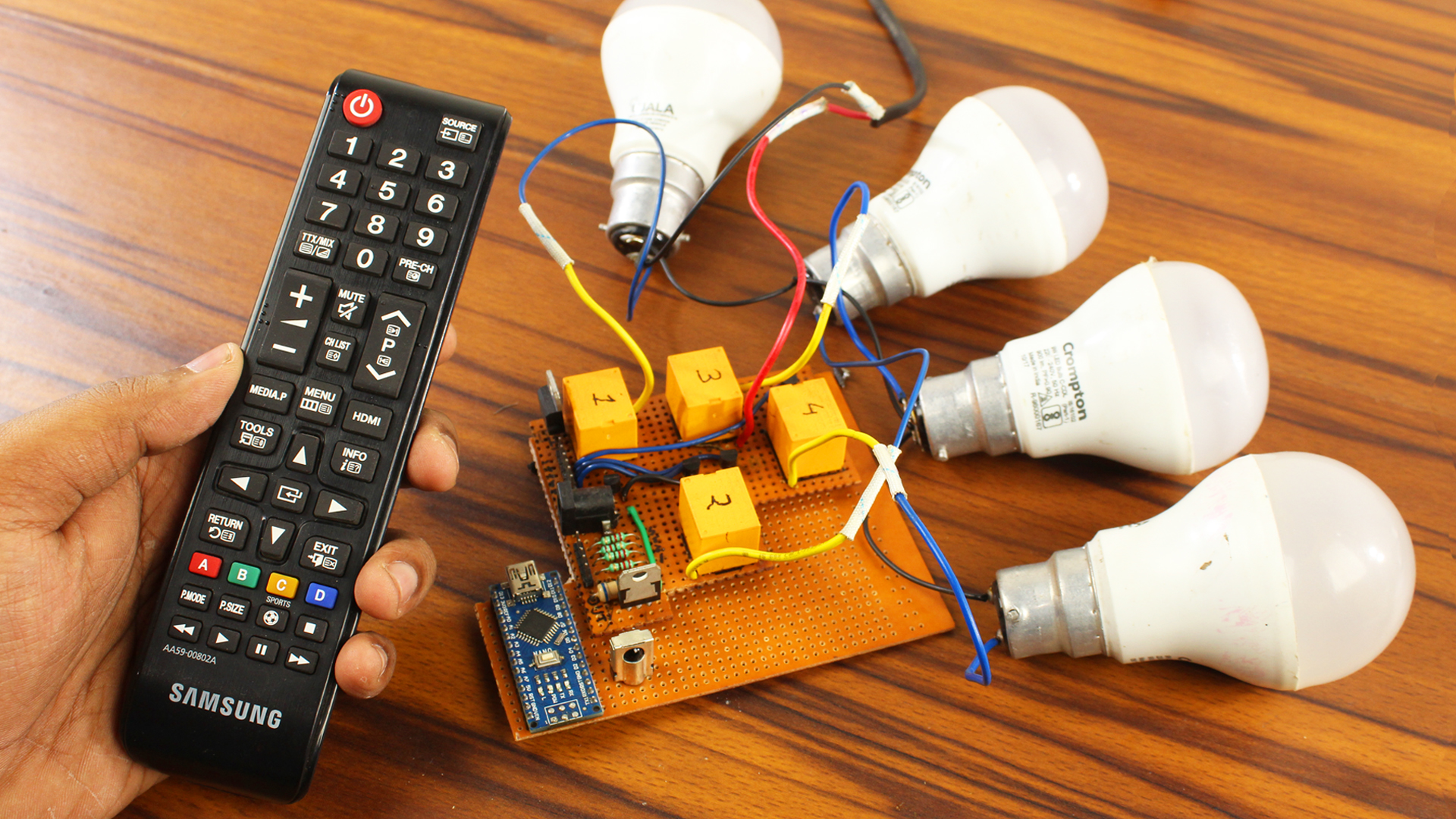 Arduino Remote Control Switch: On/Off Room Light With TV Remote