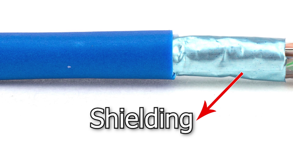 Shielding are done to reduce the cross talk of an Ethernet cable
