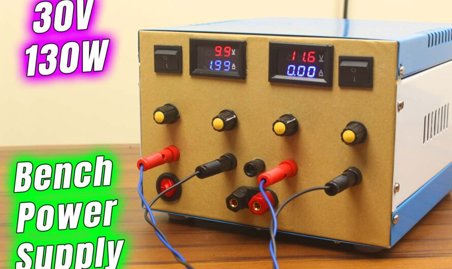 DIY Dual Channel Variable Lab Bench Power Supply 30V 10A 300W Build & Test